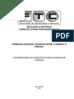 Contribuições da Linguística para o Ensino de Línguas - Da Cruz