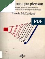 Pamela Mccorduck- Maquinas Que Piensan- Inteligencia Artificial by Diponto