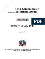 International Conference on Communication Systems -Details