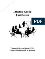 TJD Effective Group Facilitation
