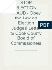 Cook County's Role in Election Judges - Round 1