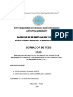 EVALUACION DEL EFECTO ANTIOXIDANTE DEL EXTRACTO DE AGUAYMANTO Y CAQUI EN LA DISMINUCIÓN DE LAS LIPOPROTEINAS DE BAJA DENSIDAD (LDL).