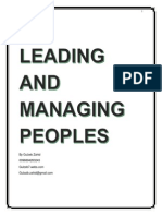 Leading & Managing People