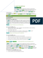 Characteristics and Guidelines of Publicspace