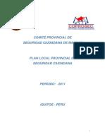 Plan Local Provincial de Seguridad Ciudadana de Maynas - 2011
