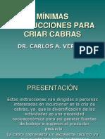 MÍNIMAS INSTRUCCIONES PARA CRIAR CABRAS POR CARLOS
