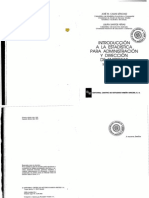 Introduccion a La Estadistica Para Administracion y Direccion de Empresas