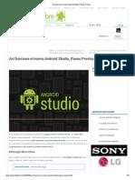Así funciona el nuevo Android Studio, Pasos Previos