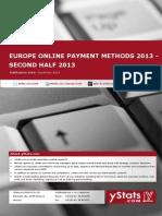 Europe Online Payment Methods 2013_Second Half 2013_Standard_by yStats