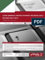 Latin America Online Payment Methods 2013 - Second Half 2013_Standard_by yStats