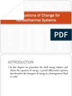 The Equations of Change for Energy Blnce