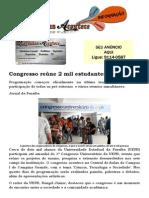 Congresso reúne 2 mil estudantes