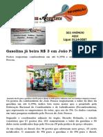 Gasolina já beira R$ 3 em João Pessoa