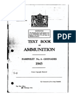 Text Book of Ammunition Pam 6 Grenades 1945