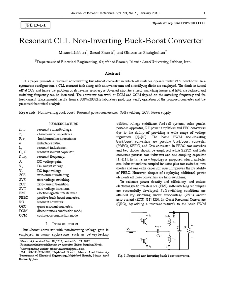 1 Jpe 12 08 007 Physical Quantities Force Buck Converter Boost Inverting Sepic
