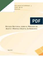 Estudio Sectorial Aceite y Manteca Vegetal