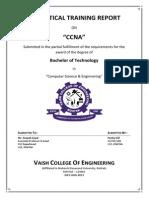 Training Report on CCNA(Cisco Certified Network Associate)
