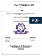 Training Report on CCNA(Cisco Certified Network Associate)