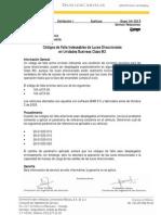Códigos de Falla Indeseables de Luces Direccionales