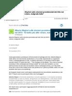 """Gmail - [Nuovo articolo] Alberto Mayhol sulle elezioni presidenziali del Cile nel 2013_ """"E'molto più utile votare, malgrado tutto"""""""