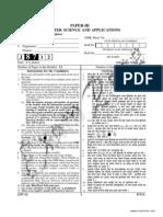 UGC Computer Science Paper 3 June 2012