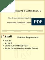 Installing Configuring Customizing KFS