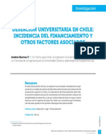 Deserción Universitaria en Chile Incidencia del Financiamiento y otros factores Asociados