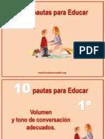 10 Pautas Para Educar