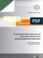 INFORME INVESTIGACIÓN ESPECIAL 33-13 CORPORACIÓN MUNICIPAL DE VALPARAÍSO PROYECTO LICEO EDUARDO DE LA BARRA - NOVIEMBRE 2013