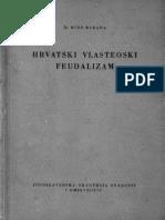MIHO BARADA Hrvatski Vlasteoski Feudalizam