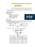 Exper5 Digital Adders-Subtractors
