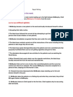 report writing exemplar cuckoos nest