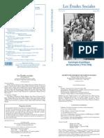 Etudes sociales N° 153-154