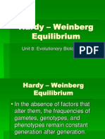 Hardy Weinberg Equilibrium- From Honors