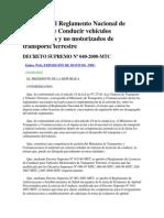 Decreto Supremo 040-2008 Mtc