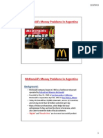 McDonalds' Money Problems in Argentina