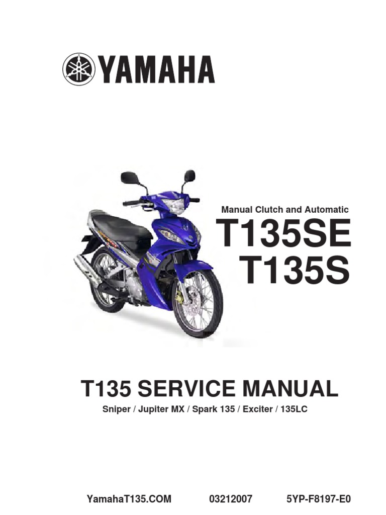 yamaha 135lc manual book clutch screw
