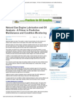 Natural Gas Engine Lubrication and Oil Analysis - A Primer in Predictive Maintenance and Condition Monitoring
