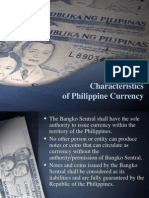 Characteristics of Monetary System