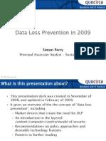 Data loss prevention in 2009