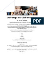 Tyler Durden - On 7 Steps for Club Seduction