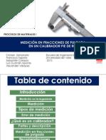 Diapositivas Calibrador en Fracciones de Pulgada