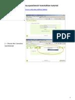 LimeSurvey questionnaire translation tutorial