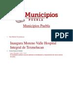02-12-2013 Municipios Puebla - Inaugura Moreno Valle Hospital Integral de Texmelucan