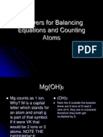answers for balancing equations and counting atoms