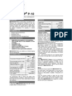 Mastertop P10 TDS