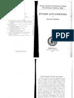 Etudes Lituaniennes