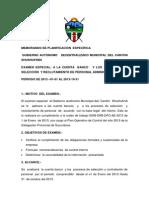 MEMORANDO DE PLANIFICACIÒN  ESPECÌFICA A BANCO
