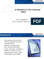 Information dynamics in the corporate space