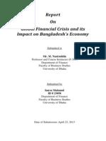 Global Financial Crisis and its Impact on Bangladesh's Economy